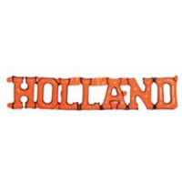Opblaas tekst holland oranje 160x30 cm