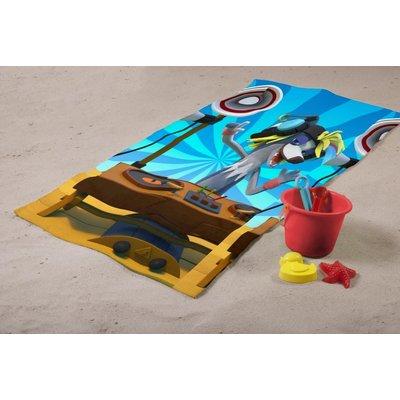 Fabeltjeskrant Badlaken Fabeltjeskrant DJ Wally: 70x140 cm