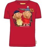 Buurman en Buurman T-shirt Buurman en Buurman: rood maat 98/104