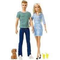 Kadoset Barbie: Ken en Barbie met puppy