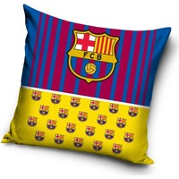 Kussen barcelona rood/blauw/geel: 40x40 cm