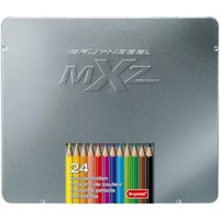 Kleurpotloden in blik MXZ: 24 stuks