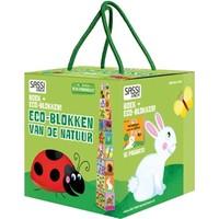 Boek + stapelblokken Eco Sassi: Natuur