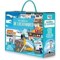 Boek + puzzel Sassi: Luchthaven 205 stukjes