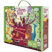 Boek + puzzel Sassi: Dierenboom 30 stukjes