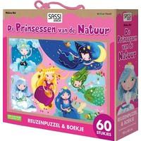 Boek + puzzel Sassi: Prinsessen 60 stukjes