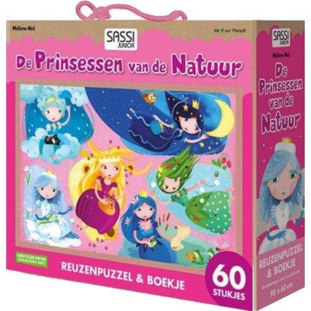 Sassi Boek + puzzel Sassi: Prinsessen 60 stukjes