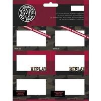 Etiketten Replay Boys: 18 stuks