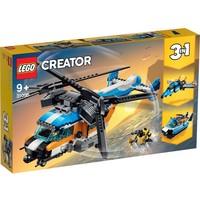 Dubbel-rotor helikopter Lego