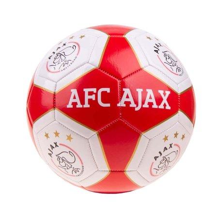 AJAX Amsterdam Bal ajax leer middel rood/wit vlakken