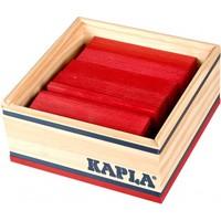 Kapla 40 stuks in kist rood