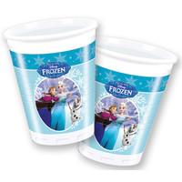 Bekertjes Frozen skating 200 ml: 8 stuks