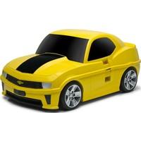 Koffer Ridaz Chevrolet Camaro geel: 49x30x21 cm