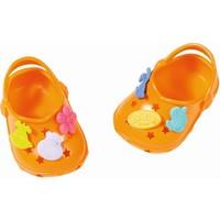 Schoenen met leuke pins Baby Born: oranje