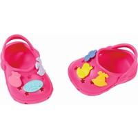 Schoenen met leuke pins Baby Born: roze