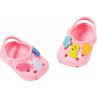 Schoenen met leuke pins Baby Born: zalmroze
