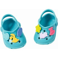 Schoenen met leuke pins Baby Born: turquoise