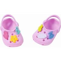 Schoenen met leuke pins Baby Born: lila