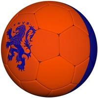 Bal holland leer groot KNVB oranje/blauw 2016/2018