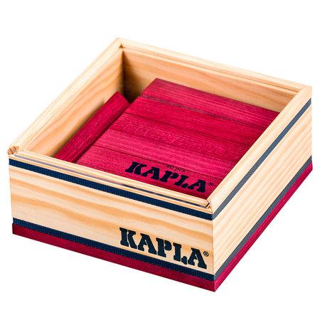 Kapla Kapla 40 stuks in kist wijnrood