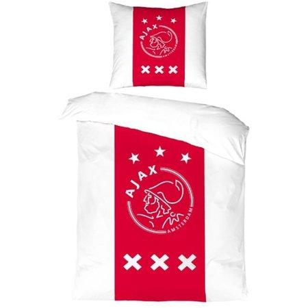AJAX Amsterdam Dekbed ajax wit/rood/wit: 140x200/60x70 cm