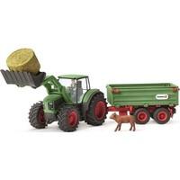 Tractor met aanhangwagen Schleich