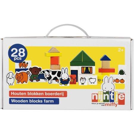 Nijntje Blokken boerderij hout Nijntje