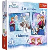 Puzzel Frozen 2 in 1: 30 en 48 stukjes