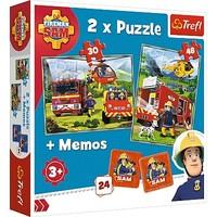 Puzzel Brandweerman Sam 2 in 1: 30 en 48 stukjes
