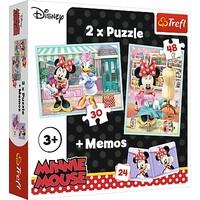 Puzzel Minnie Mouse 2 in 1: 30 en 48 stukjes