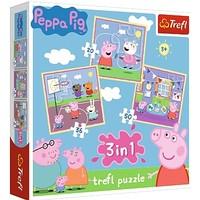 Puzzel Peppa Pig 3 in 1: 20/36/50 stukjes