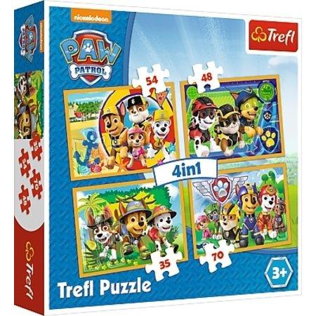 Trefl Puzzel Paw Patrol 4 in 1: 35/48/54/70 stukjes