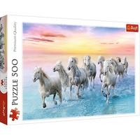 Puzzel Paarden in galop: 500 stukjes