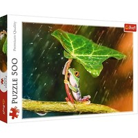 Puzzel Groene Paraplu: 500 stukjes