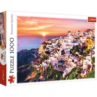 Puzzel Zonsondergang Santorini: 1000 stukjes