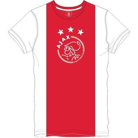 AJAX Amsterdam T-shirt ajax wit/rood/wit logo maat XXL
