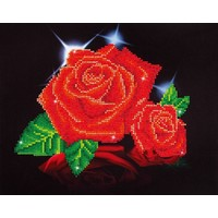 Red Rose Sparkle Diamond Dotz: 28x35 cm