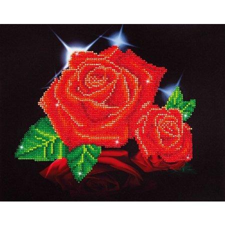 Diamond Dotz Red Rose Sparkle Diamond Dotz: 28x35 cm