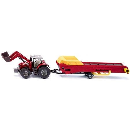 Siku Massey Ferguson tractor met transporband SIKU
