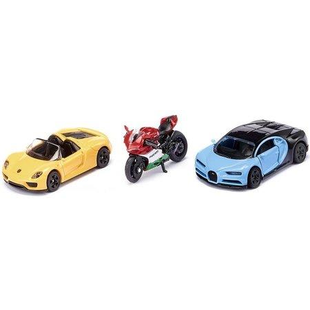 Siku Sportwagens en motor SIKU: 3-delig