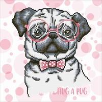 Hug A Pug Diamond Dotz: 35x35 cm