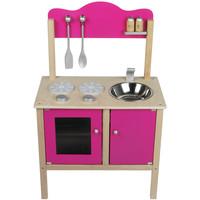 Keukentje hout roze 54x30x83 cm