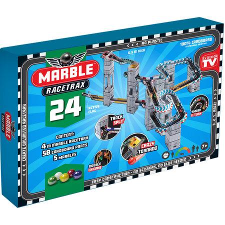 Marble Racetrax Marble Racetrax - Knikkerbaan - Racebaan - Starter Set - 24 sheets (4 meter)