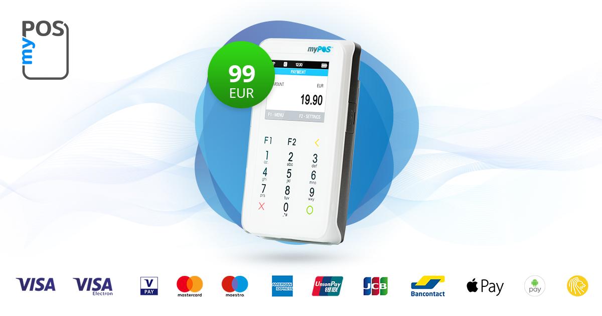 Heights myPOS Mini mobiele betaalautomaat met simkaart