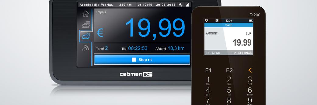 pinnen en creditcards via de BCT Cabman met de myPOS combo betaalterminal