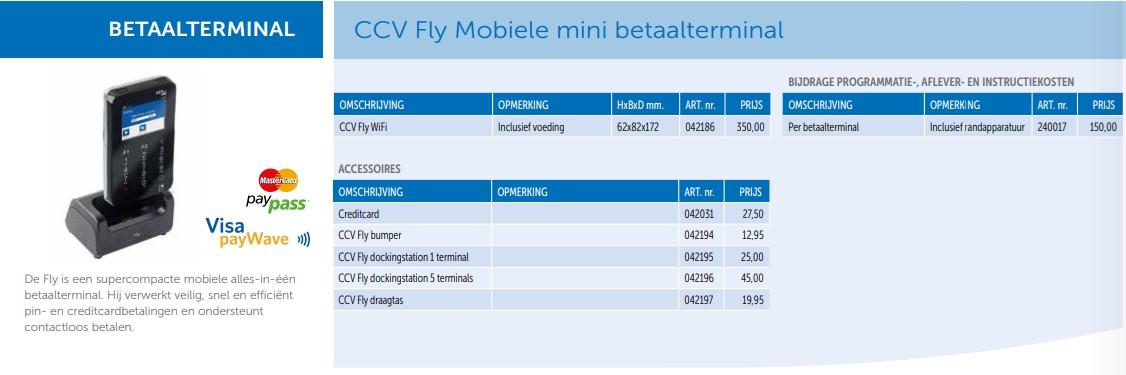 CCV fly mobiele mini betaalterminal