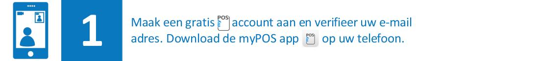 maak een gratis myPOS account aan
