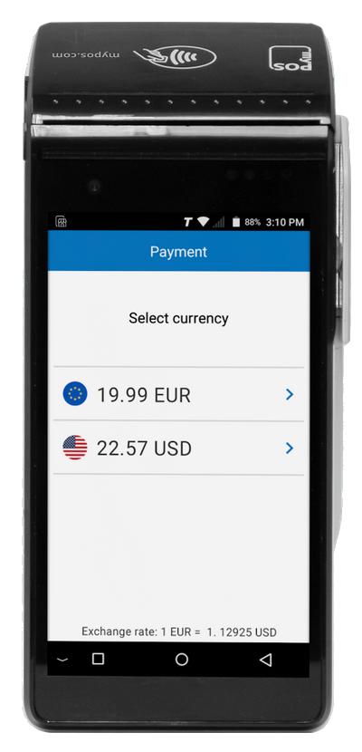 DCC transactie op de myPOS Smart N5