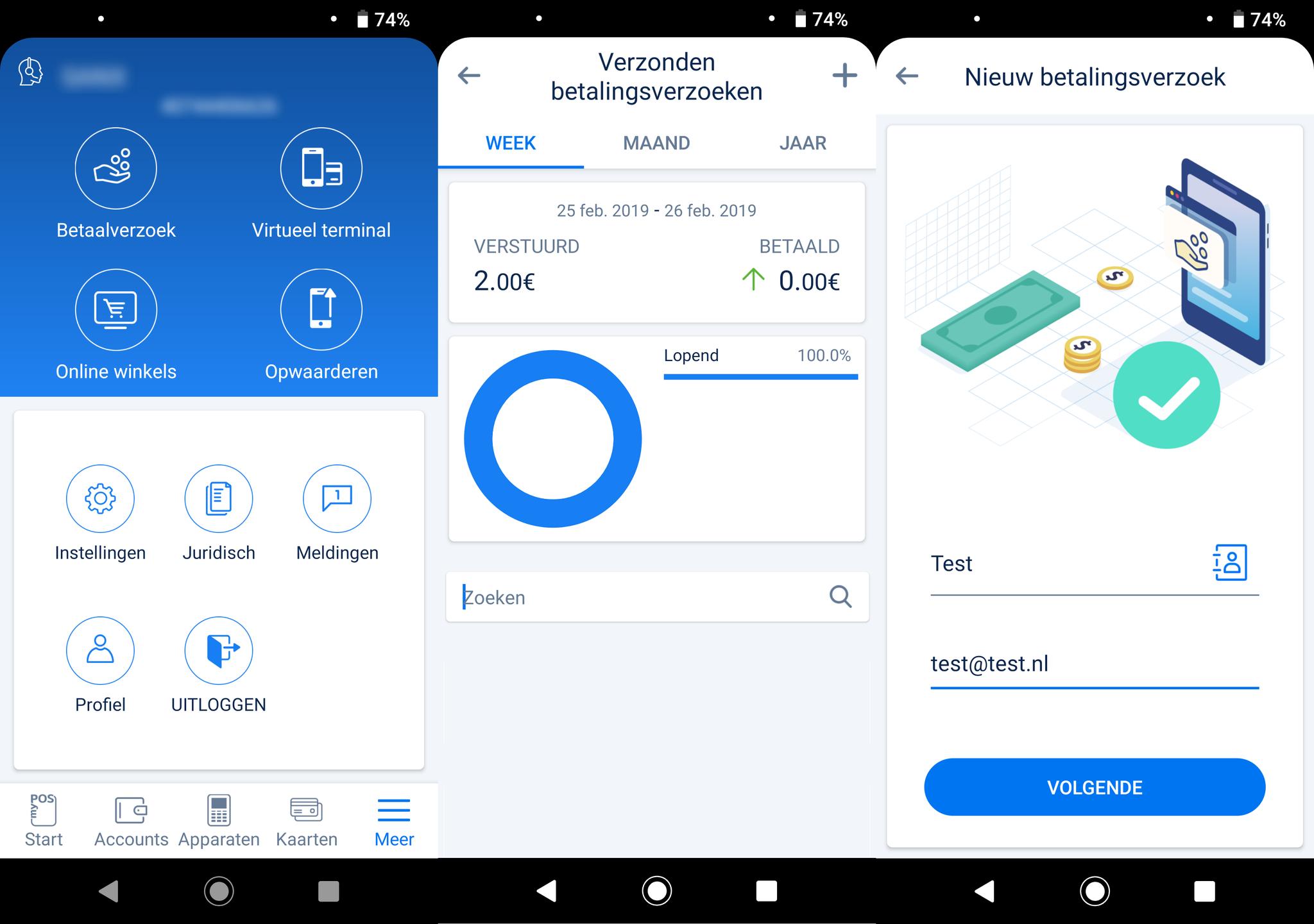 Betaalverzoek aanmaken in de myPOS app