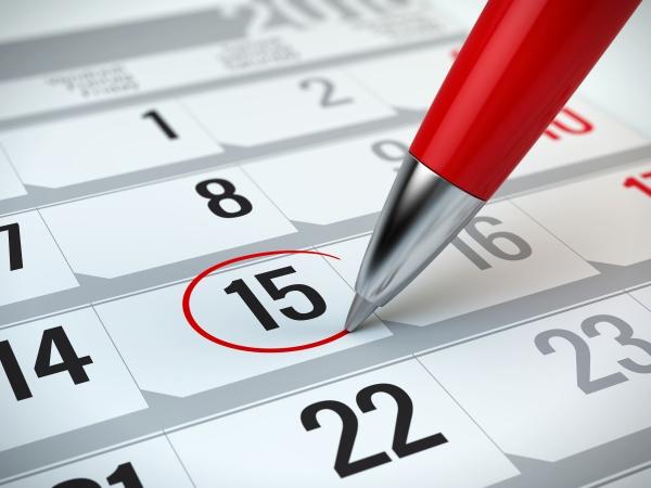kalender dagelijks uitbetaald